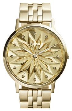 Fossil 'Vintage Muse' Round Bracelet Watch,40mm available at #Nordstrom