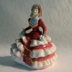 Royal Doulton Miniature Pretty Lady  Hannah by AuntMartha on Etsy, $110.00