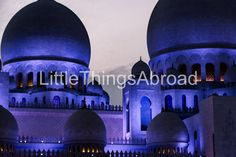 Sheikh Zayed Grand Mosque photo, Abu Dhabi, United Arab Emirates, domes, purple, dusk, digital file, instant download, printable, travel by LittleThingsAbroad on Etsy
