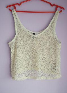 Kup mój przedmiot na #vintedpl http://www.vinted.pl/damska-odziez/bluzki-bez-rekawow/9647543-koronkowy-top-hm-polecam-krotki