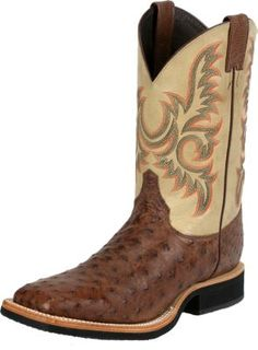 Shop new Justin Men's Brown Full Quill Ostrich Exotic Western Boots – Winter White