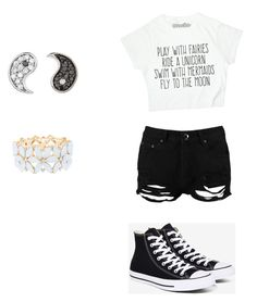 Untitled #42 by sarahto31270734 on Polyvore featuring polyvore, fashion, style, Boohoo, Converse, Charlotte Russe, Sydney Evan and clothing