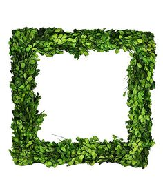 Look what I found on #zulily! Green Square Boxwood Wreath #zulilyfinds