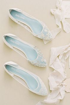 lace flat wedding shoes handbeaded details bella belle