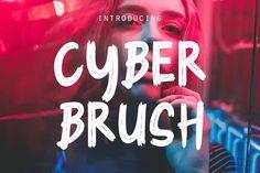 Cyber Brush - Brush Font by Rometheme on Envato Elements