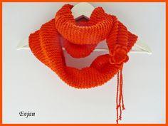 ♥ Frühlingshafter Loop in Papaya ♥ von Evjan auf DaWanda.com