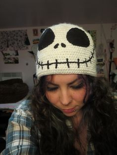 Jack Skellington Beanie. • Make a character hat in under 60 minutes
