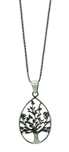 Sterling Silver Tree of Life Pendant Womens Jewelry Necklace 18 Inch *** Check out the image by visiting the link.(This is an Amazon affiliate link and I receive a commission for the sales)