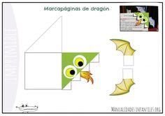 Punto de libro de dragon imprimible