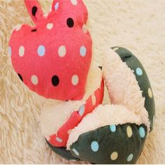 Winter Cute Dot Print Hearts Shape Fur Warm Earmuffs - Gchoic.com