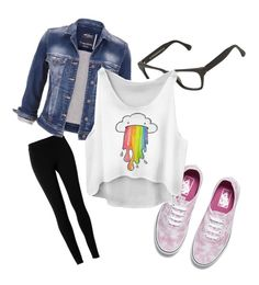 """Rainbow Barf"" by mintynoelle on Polyvore featuring Max Studio, maurices, Vans and RetroSuperFuture"