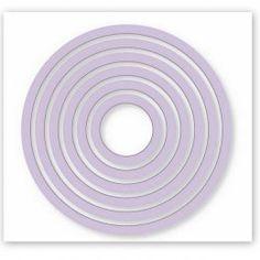 Kovové vyřezávací šablony/ Kruhy