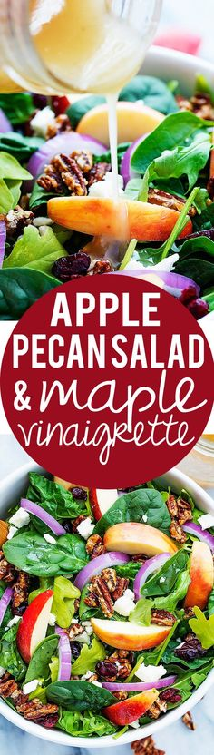 Apple Pecan Salad with Maple Vinaigrette