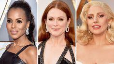 Kerry Washington, Julianne Moore and Lady Gaga on the Oscar red carpet