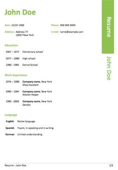 Resume Microsoft Template This Teacher Cv Template A4 Stresses Experience And Publications .