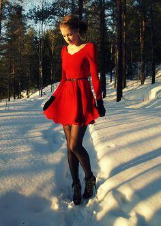 Scalloped Edge & Skater Dress.