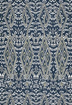 Maya Ikat Print Schumacher Fabric  for couch pillows if you use navy chevron rug