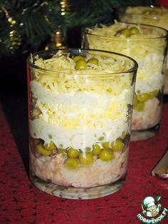 Салат из печени трески с рисом - кулинарный рецепт