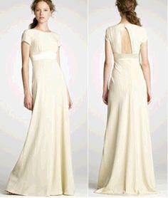 Modest Wedding Dress With Open Keyhole Back