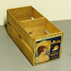 Vintage wood produce crate
