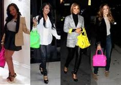 all black outfits with accent colors - - Yahoo Image Search Results