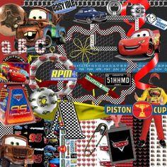 Disneys Cars Digital Scrapbook Kit | FrogjunkieesCreativeCreations - Digital Art  on ArtFire