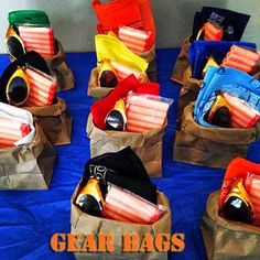 Nerf & Targets Party : Loot Bags : Have them open and use their loot bags : Safety goggles, ammo, shirts, and more : by Everything That I Need: Nerf Wars Birthday