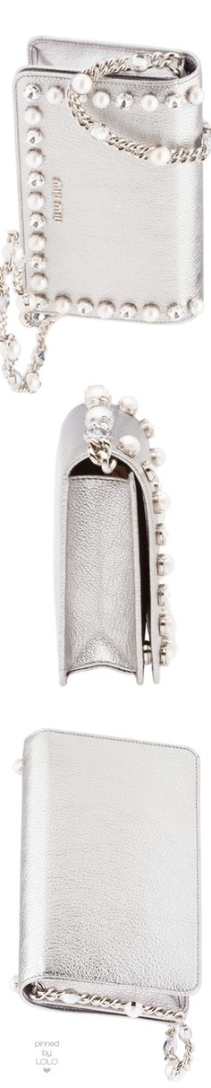 Miu Miu Silver Embellished bag