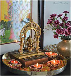 Cute idea for my golden buddha Pinkz Passion : Festival of Lights - Diwali
