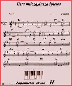 usta milczą dusza śpiewa nuty - Szukaj w Google Piano Classes, Music Score, Ukulele, Sheet Music, Folk, Entertaining, Google, Music Instruments, Popular