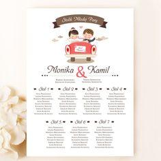 Piękne plany stołów weselnych plakat (Kod: PL014) Plany papierowe Plany stołów -Venarti - Sklep ślubny