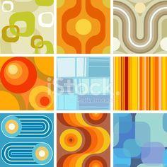 Seamless Retro Wallpaper Tiles Stock Vector