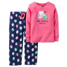2-Piece Cotton & Fleece PJs