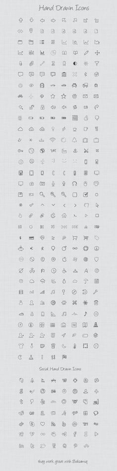 Over 300 Unique Hand Drawn Icons deal - MightyDeals