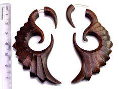 (SKU NO:SEW_01) A Pair of Coconut Earrings Coco Wood Wooden Boho Hippie Earrings Krishna Mart India