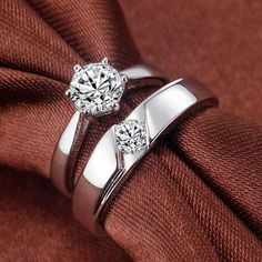 Most loved designed by youngsters and middle aged couples. People who like variety and uniqueness, these high polished white gold platinum Madeline rings will Couple Rings Gold, Engagement Rings Couple, Diamond Engagement Rings, Solitaire Engagement, Gold Wedding Rings, Wedding Jewelry, Wedding Bands, Wedding Ring For Men, Mens Gold Rings