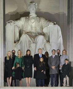 On the steps of the Lincoln Memorial with my father, the 45th president of the United States, and family. Such an incredibly meaningful and special moment! #MAGA #inauguration2017