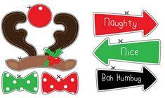 Rudolph y Señales: Photo Booth de Navidad para Imprimir Gratis. | Ideas y material gratis para fiestas y celebraciones Oh My Fiesta!