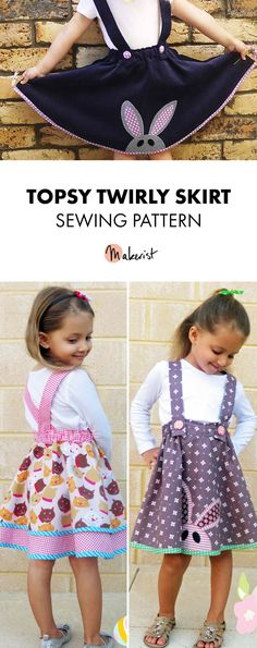 Topsy Twirly Skirt - Sewing Pattern via Makerist.com  #sewingwithmakerist #sew #sewing  #sewkindofwonderful #sewingpattern #sewinginspiration #diy #handmade #homemade #sewingprojects #sewingtutorial  #childrenswear #kidswear