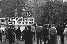 Pro Vietnam rally by American Nazi George Lincoln Rockwell