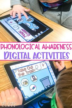 Kindergarten and first grade students practice and develop phonological awareness skills with these interactive, digital activities. Available in Boom Learning, Seesaw, and as Google Slides!