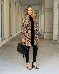 Inspiration: Bloomingdale's    If I lived in a colder climate, a leopard coat would be a no-brainer for my  closet. But as a Floridian, the occasions to wear one are few and far  between!There will be the occasional nights when temperatures dip low  enough, and there may be opportun