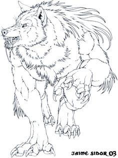 Andrei charging by Emryswolf on deviantART Werewolf Tattoo, Werewolf Art, Arte Furry, Furry Art, Fantasy Creatures, Mythical Creatures, Wolf Hybrid, Arte Obscura, Classic Monsters