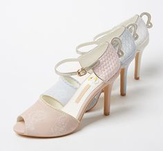Tea cup peep toe sandals
