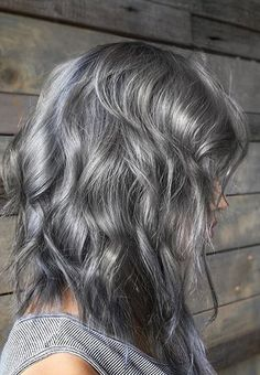 ash silver hair color idea                                                                                                                                                      More