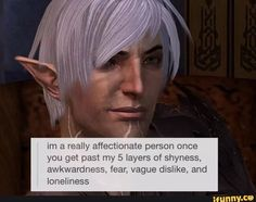 And I never can. The constant angst and hatred of mages is more than I can bear.