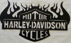 Harley+Davidson+Metal+Wall+Art+by+PcPlasma+on+Etsy,+$25.00