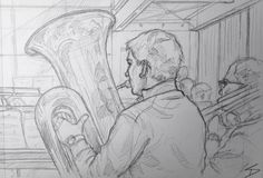 Image from my recent travel art blog article 'Slovenian story.' Read it here – sketchbookexplorer.com/2016/05/22/slovenian-story/… sketchbookexplorer.com @davidasutton #sketch #music #slovenia