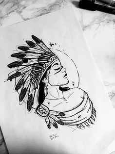 Cool Art Drawings, Art Drawings Sketches, Tattoo Sketches, Tattoo Drawings, Body Art Tattoos, Pencil Drawings, Sketch Tattoo Design, Tattoo Designs, Indian Girl Tattoos