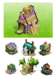 строения, домики, игры by Pavel Pro, via Behance